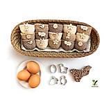 Dekorácie - Mini košíčky na vajíčka (100% biobavlna) - 10569374_