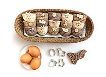 Dekorácie - Mini košíčky na vajíčka (100% biobavlna) - 10569443_