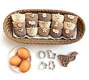 Dekorácie - Mini košíčky na vajíčka (100% biobavlna) - 10569472_