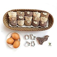 Dekorácie - Mini košíčky na vajíčka (100% biobavlna) - 10569410_