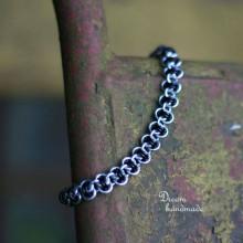 Náramky - Harmony - náramok (čierný) - 10570464_