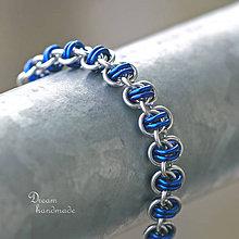 Náramky - Harmony - náramok (modrý) - 10570497_