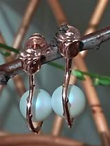 Náušnice - Svadobné náušničky ružičky s perlou - 10571273_