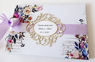 Papiernictvo - svadobná kniha hostí - 10569714_