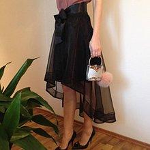 Sukne - Čierna tylová sukňa - 10571173_