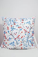 Úžitkový textil - FLORAL akvarelová obliečka - Šípky - 10569442_