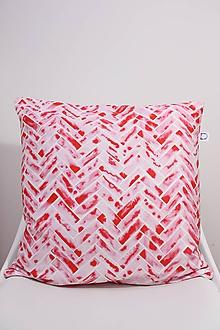 Úžitkový textil - Akvarelová obliečka - SCARLET parkety - 10568941_