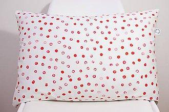 Úžitkový textil - SCARLET akvarelová obliečka - bodky II. - 10568954_