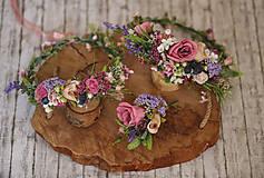 Ozdoby do vlasov - Kvetinový venček - 10570610_
