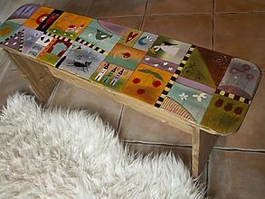 Nábytok - Pestrofarebná lavička - 10569328_