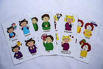 Dobrý obchod - Nepočujúce dieťa: Pexeso (Posunkové) - 10571437_