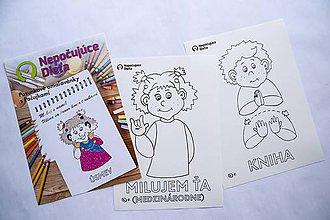 Hračky - Nepočujúce dieťa: Omaľovánky - 10571483_