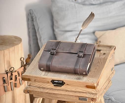 Kombinovaný kožený zápisník BRITT