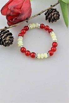 Náramky - perleť a jadeit náramok - 10570649_