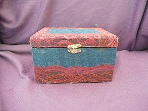 Krabičky - džínová šperkovnica - 10568962_