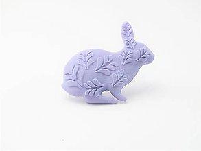 Odznaky/Brošne - Králik lilac flower - 10569520_