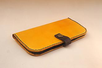 Peňaženky - Dámská kožená peňaženka - žlutá - 10570878_