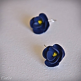 Náušnice - Kvety z nočnej oblohy - náušnice s francúzskym zapínaním - 10571397_