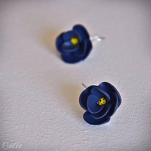Kvety z nočnej oblohy - náušnice s francúzskym zapínaním