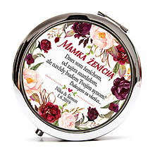 Zrkadielka - Mamka ženícha - marsala kvety - 10568970_