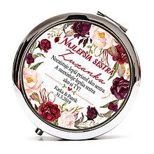 Zrkadielka - Zrkadielko pre sestru - marsala kvety - 10568972_