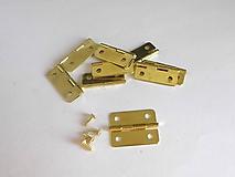 Iný materiál - Pánt 24x20mm - zlatý - 10569269_