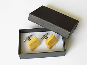 Šperky - Manžetové gombíky drevené - 10569532_