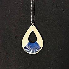 Náhrdelníky - Farebný dážď - prívesok (modrá) - 10569381_