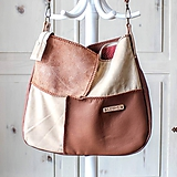 Casual leather *hobo* bag No.3