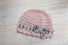 Detské čiapky - jarná čiapočka s mašličkou - 10569766_