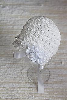 Detské čiapky - čepček (nielen) na krst - 10569788_