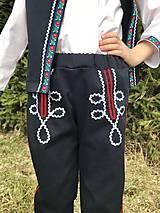 Detské oblečenie - Chlapčenské folklórne nohavice - 10571491_