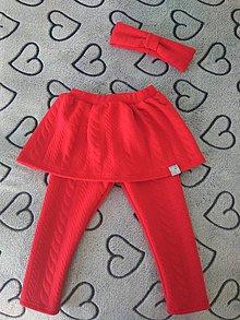 Detské oblečenie - set sukňolegíny s čelenkou - 10571302_