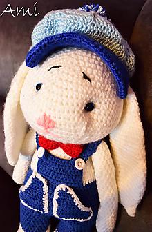 Hračky - Háčkovaný zajačik - 10571225_