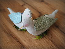 Dekorácie - Dvojica holubov - 10571450_
