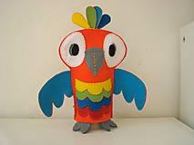Bábiky - Papagáj René z Ria - 10569977_