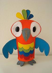 Bábiky - Papagáj René z Ria - 10569978_