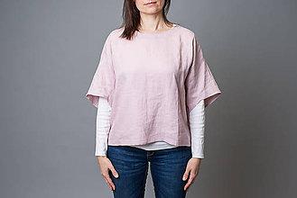 Topy - Ľanové kimono Deni, ružové - 10571529_