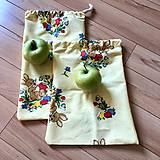 Úžitkový textil - Zero waste veľkonočné vrecúško - väčšie - 10570249_