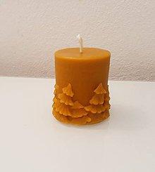 Svietidlá a sviečky - Vianočná sviečka 7 cm - 10571232_