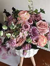 Dekorácie - Kvetinová dekorácia veľká - 10569595_