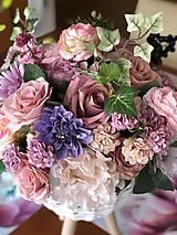 Dekorácie - Kvetinová dekorácia veľká - 10569596_
