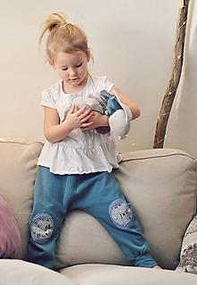 Detské oblečenie - Turky modrozelené - 10569165_