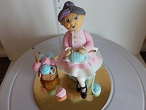 Suroviny - ozdoba na tortu Babička - 10569238_