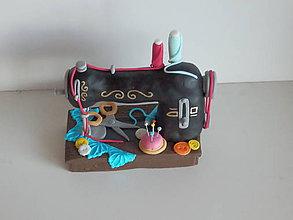 Suroviny - ozdoba na tortu Šijací stroj retro - 10569559_