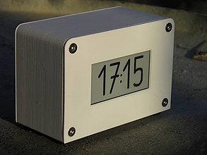 Hodiny - Agora clock - biele - 10568945_