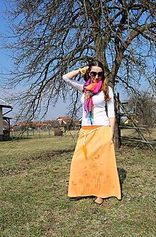 Sukne - Maxi - púpavová SKLADOM - 10571357_
