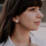 Náušnice - EARBERRIES perleťové zapichovačky - 10569125_