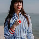 Prstene - BUTTON {XL} výrazný červený prsteň - 10569986_