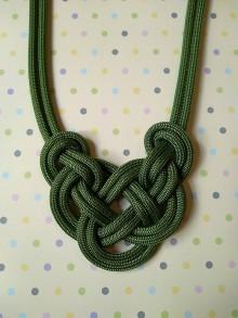Náhrdelníky - Lanový náhrdelník olivka - 10572259_